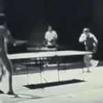 Bruce Lee playing pingpong