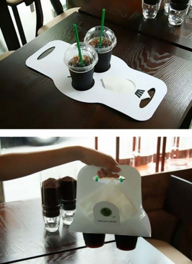 Cup holder from paper