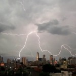 Lightning strikes the three tallest buildings in Chicag...