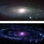 Andromeda, our nearby galaxy, in optical light and ultr...