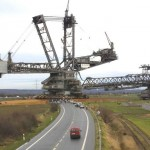 One of the largest mobile machines in the world crosses...