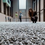 Millions of sunflower seeds, filled the museum's hall ...
