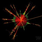 A Simulated Black Hole Event in the Large Hadron Collid...