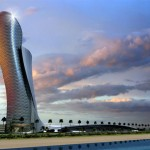 Capital Gate Towerin Abu Dhabi, world's furthest leanin...