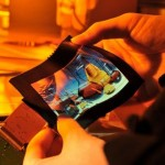 Flexible color AMOLED display just 0.01cm thick
