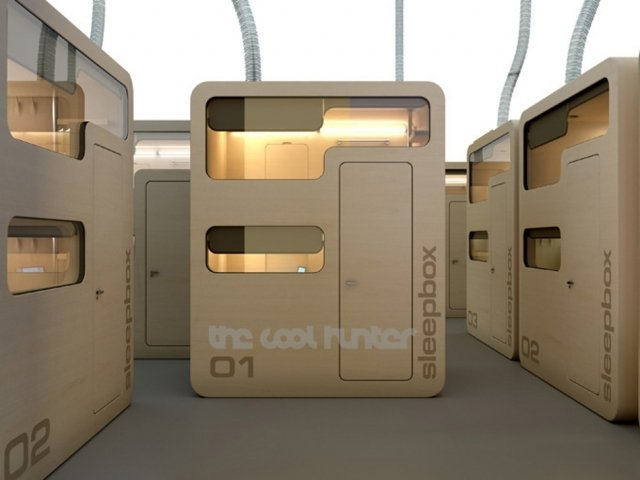 Sleepbox mini hotel rooms wordlesstech for Top design hotels tokyo