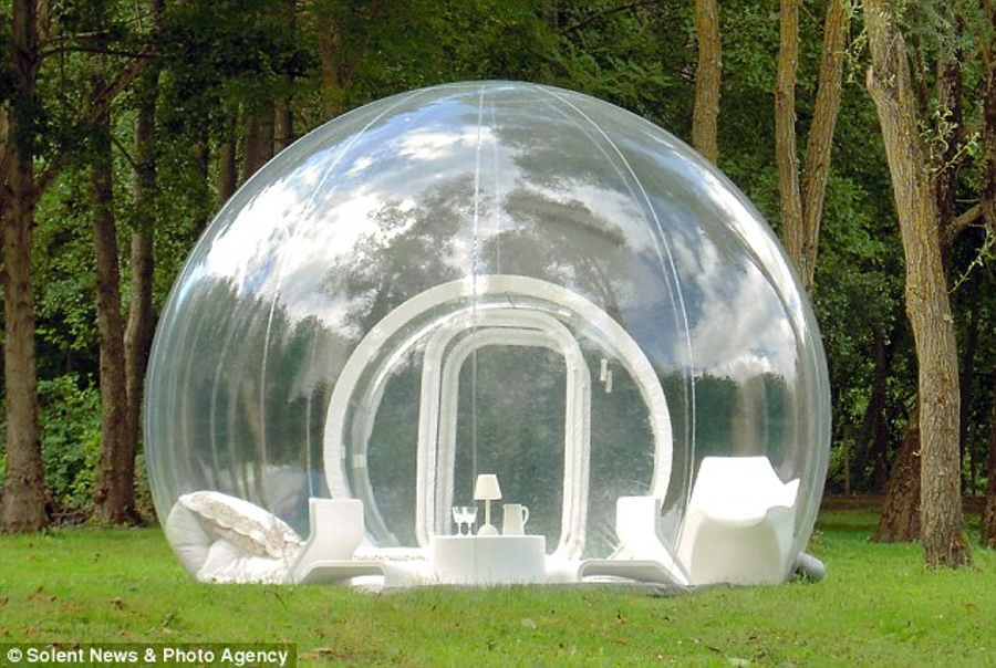 Transparent bubble tent & Transparent bubble tent | wordlessTech