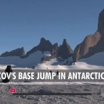 Base Jumps off Mountain in Antarctica