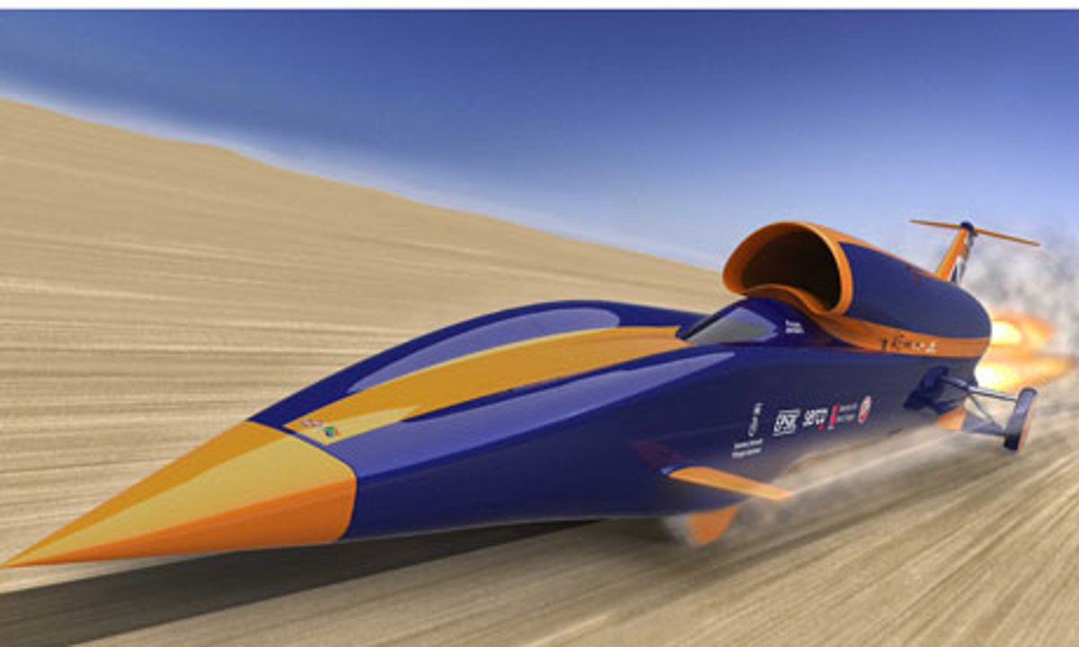 Wordlesstech Bloodhound Supersonic Car For Landspeed Record Video