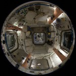 Fish-eye Lens views inside of Space Station