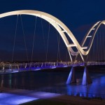 Infinity Bridge- Lights respond to the pedestrians move...