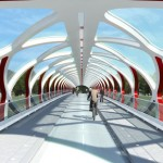 Peace Bridge by Santiago Calatrava in Calgary