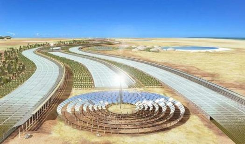 Solar Collectors Covering 0.3 Percent of the Sahara