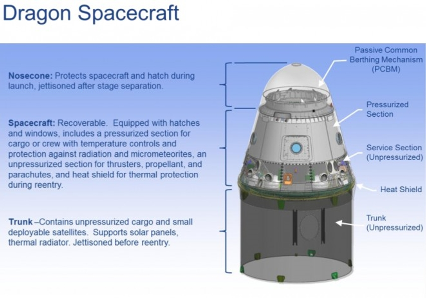 SpaceX's Dragon private spaceship