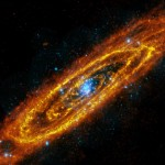 Beautiful Andromeda Galaxy outside the visible spectrum