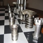 Chess Sets made from Recycled Materials