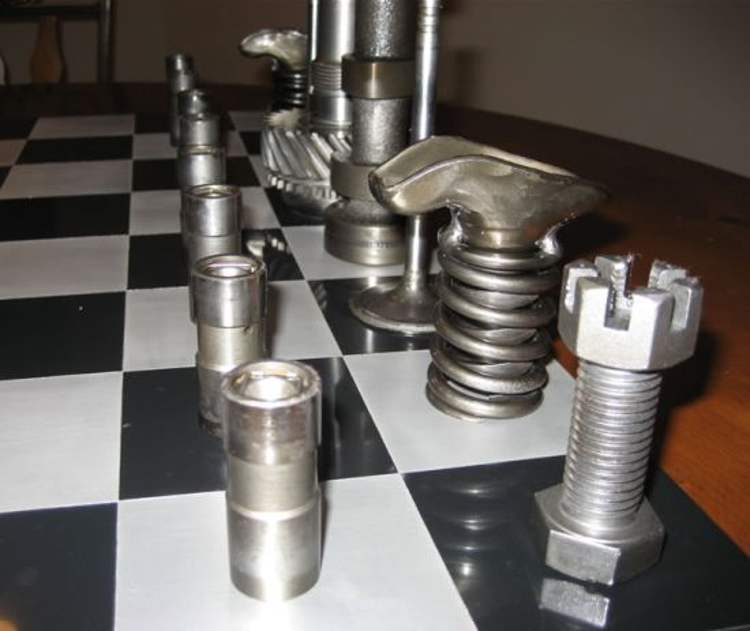 Chess Sets Recycled Materials