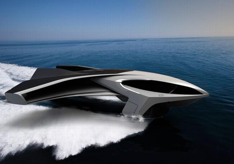 wordlessTech   Ekranoplane- a yacht that can fly (video)