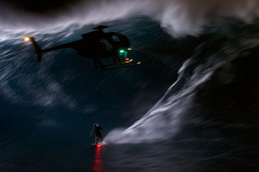 surfing 40-foot waves