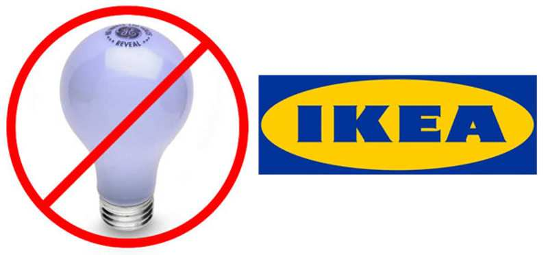 IKEA to stop selling incandescent light bulbs