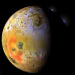 Jupiter's moon Io from Voyager 1 Space Probe