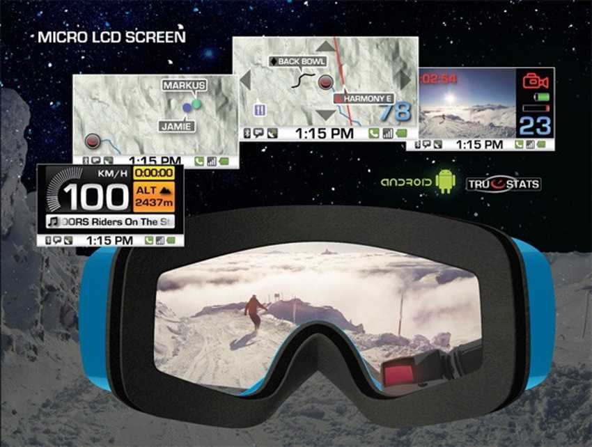 Ski Goggles with GPS, Android