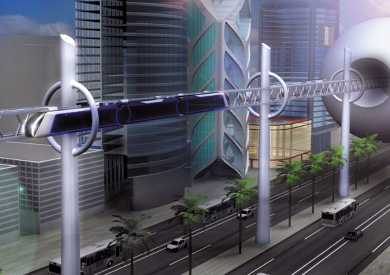 The concept of public transportation to protect the environment