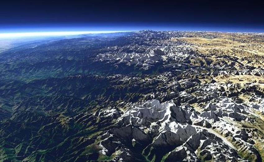 wordlessTech | The Himalayas from Space