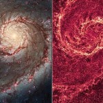 Two faces of Whirlpool Galaxy