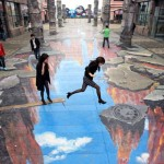 3D street art in China