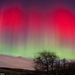 Auroras in the skies over Aberdeen