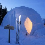 Dome-like pods in Alps