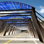 Solar arch on highways