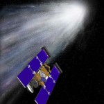 Stardust spacecraft fly by with comet Tempel1