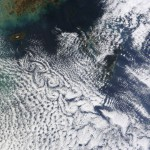 Cloud vortices over Cheju Do