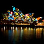 Colourful Sydney Opera House
