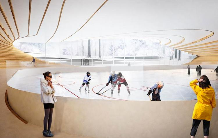 Ice hockey rink