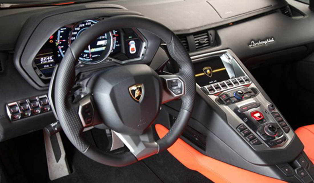 Wordlesstech Lamborghini Aventador Digital Screens Dashboard Video