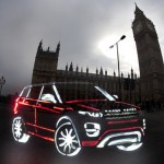 Light-graffiti Range Rover Evoque