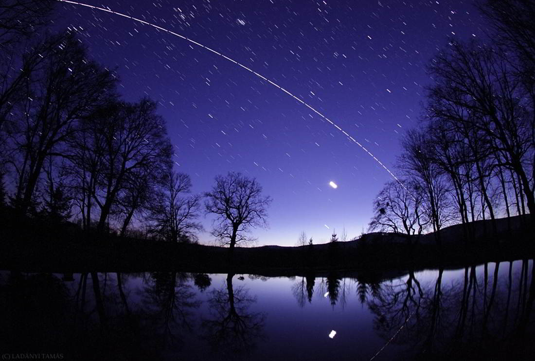 Moon, Jupiter, Discovery, and ISS