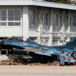 Pictures from Japan's disaster- Mitsubishi F-2 fighter