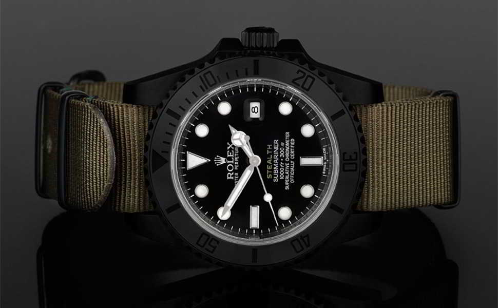 These Rolex Project X Stealth Watches £8,750£9,950, influenced by