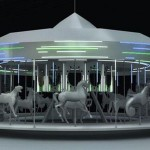 Solar-powered carousel