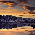 Sunset in Mono lake