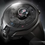 Tourbillon watch Black Hole