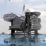 Aquatic Villages in oil rigs