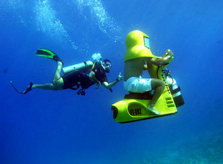 Underwater scooter in andaman
