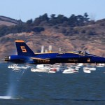Blue Angel close to water's surface at 500mph