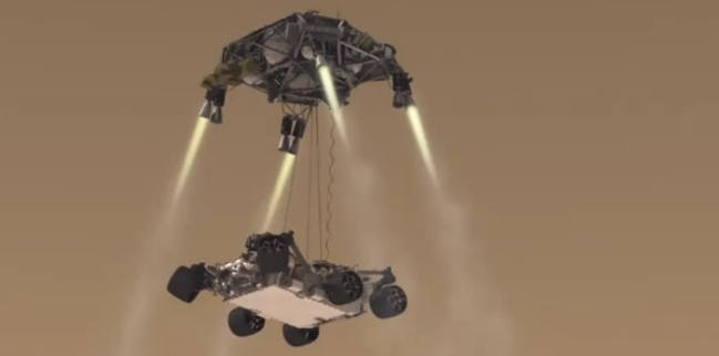 mars curiosity rover landing animation - photo #22