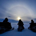 Halo on Svalbard archipelago